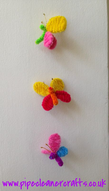 Pipe Cleaner butterfly Mobile!