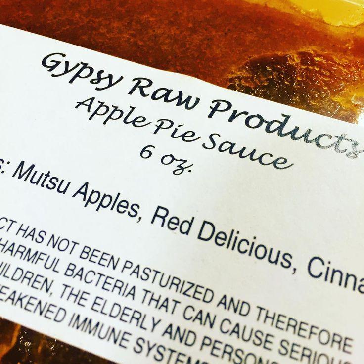Brand new item for tomorrow @nodafarmersmarket #apple #pie #applesauce #raw #charlotte #noda #nc #healthy #diet #local #gypsyjuice