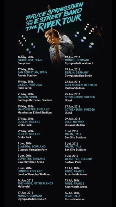 Springsteen tour dates