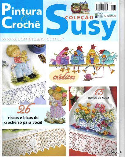 Coleção Susy Pintura em Tecido e Crochê nº 09 - RAQUEL Antunes - Picasa Web Albums...FREE MAGAZINE!!