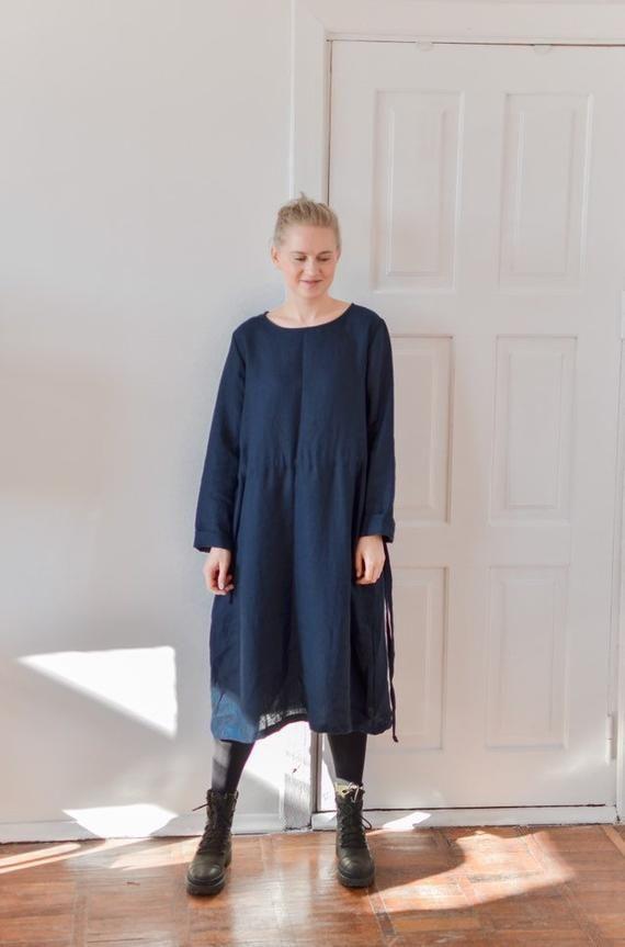 Linen Shift Dress Maternity Dress Sustainable Clothes Pregnancy Dress Linen Dresses for Women Loose Linen Dress