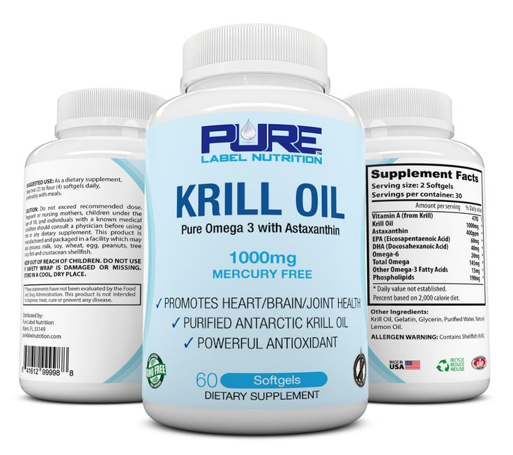 100 pure antarctic krill oil 1000mg w astaxanthin pure k for Fish oil supplement dosage