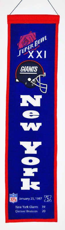 New York Giants Super Bowl XXI Wall Banner - $34.99 at Sportsfan Store