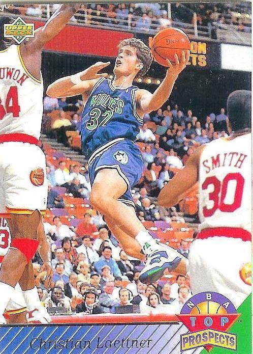 1992-1993 UPPER DECK #472 Christian Laettner - Mint #MinnesotaTimberwolves