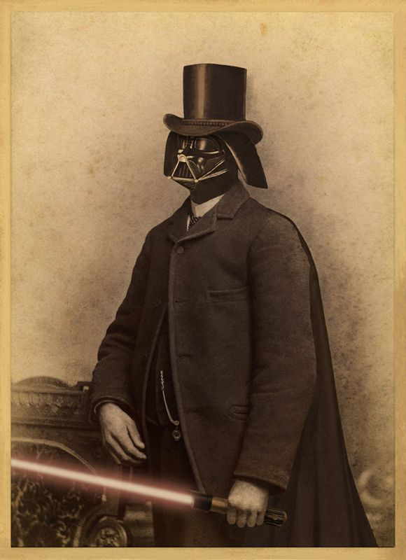 Victorian Vader by Terry Fan: Darth Vader, Olden Day, Terry Fans, Like A Sir, Stars War, Art Prints, Fans Art, Tops Hats, Likeasir