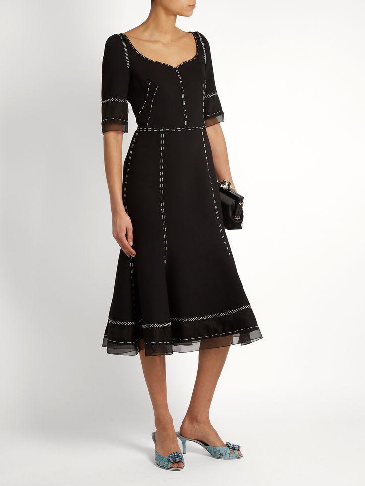 Whipstitched wool-blend cady dress | Dolce & Gabbana | MATCHESFASHION.COM