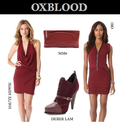 Oxblood for Pre-Fall 2013