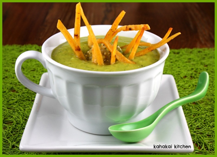 Avocado Soup with Tomatillos and Orange: Creamy, Cool and Spicy