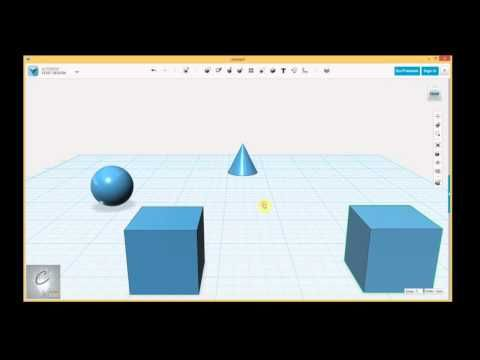 123D Design Tutorial - Part I - Lesson 1/4 - Understanding the Workspace (Outdated) - YouTube