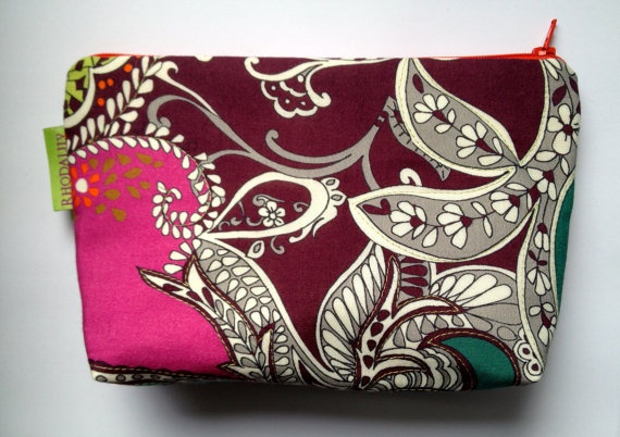 bright and funky  pouch with contrasting zip and by Rhodalily, £12.00
