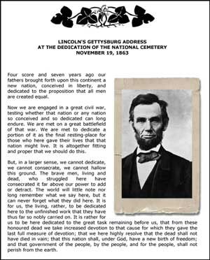 an analysis of the gettysburg address of abraham lincoln Quotes from abraham lincoln's the gettysburg address learn the important  quotes in the gettysburg address and the chapters they're from, including why.