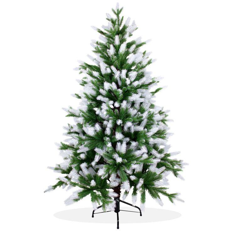 Künstlicher Weihnachtsbaum 150cm PE Spritzguss beschneiter Premium Tannenbaum Nordmanntanne, Christbaum