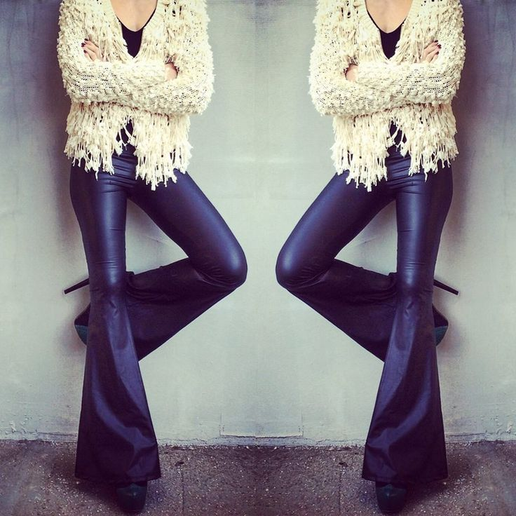 The leather flare pants