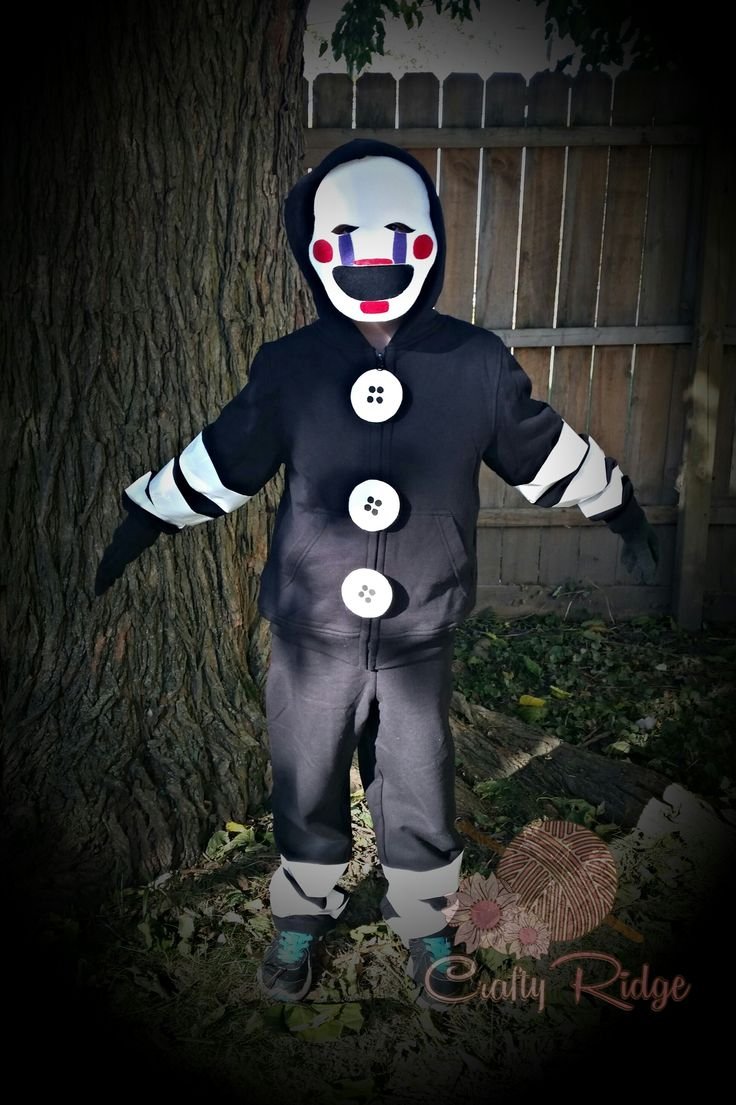 F fnaf bonnie costume for sale - Marionette Tutorial By Crafty Ridge Fnaf Fivenightsatfreddys Halloween Costume Geekery