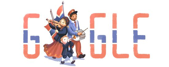 Dag van de Grondwet Noorwegen http://www.websonic.nl/googledoodles/doodle_dagvangrondwetnoorwegen.php