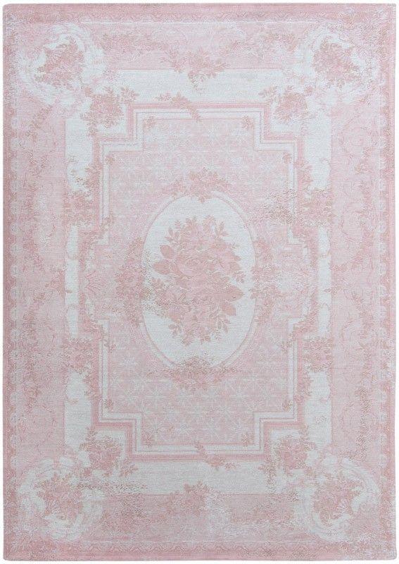 Vintage vloerkleed | wollen vloerkleed in roze