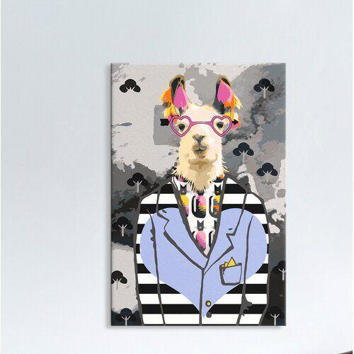 Diy Canvas Painting Crazy Alpaca 17 Stories Body Art