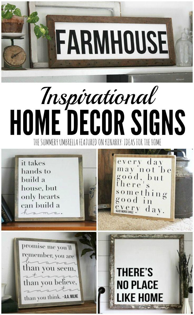 Ms de ideas sobre Home Decor Signs en Pinterest