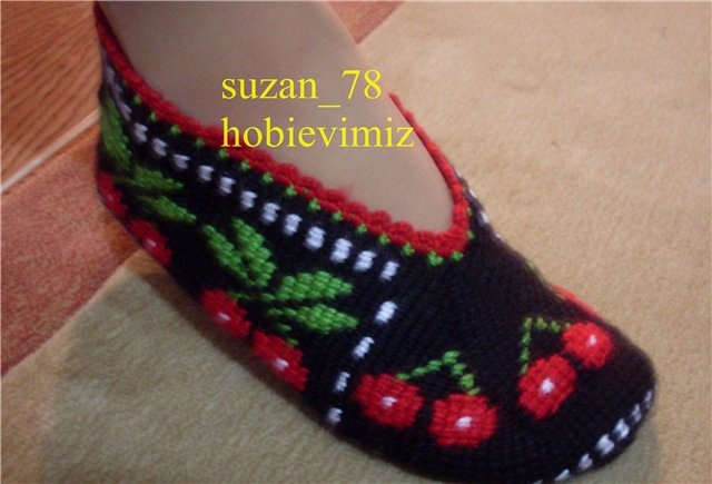 Tunisian crochet slippers photo-tutorial