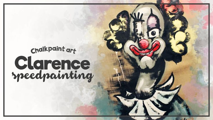 Say Hello to CLARENCE the clown, Autentico Chalk paint Art by LINA - Spe...