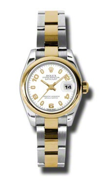 Ladies Rolex Datejust White Dial Automatic Stainless Steel and 18kt Yellow Gold Women's Watch 179163WASO  $6642.00