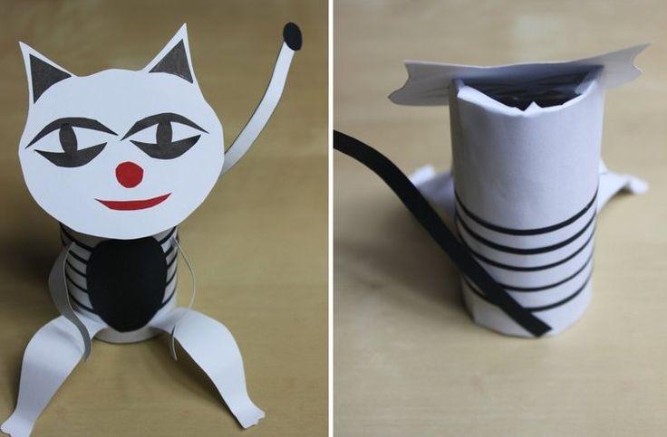 Kotek z papieru « Zabawy dla dzieci, rozwój dziecka