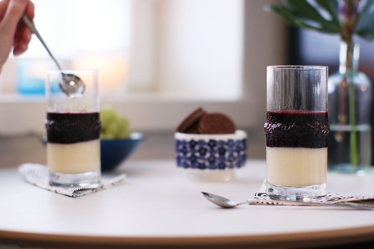 A dessert tip for holiday season – top vanilla pudding with blueberry Berrie. Simple, elegant and delicious!