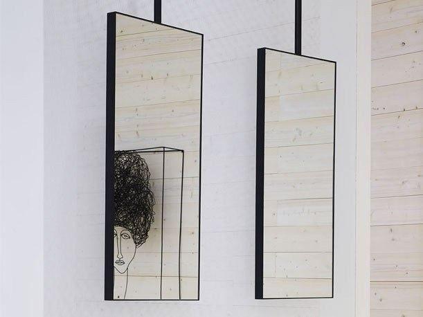 Miroir rectangulaire pour salle de bain ARGO Collection ARCADIA by Ceramica Cielo | design Studio APG