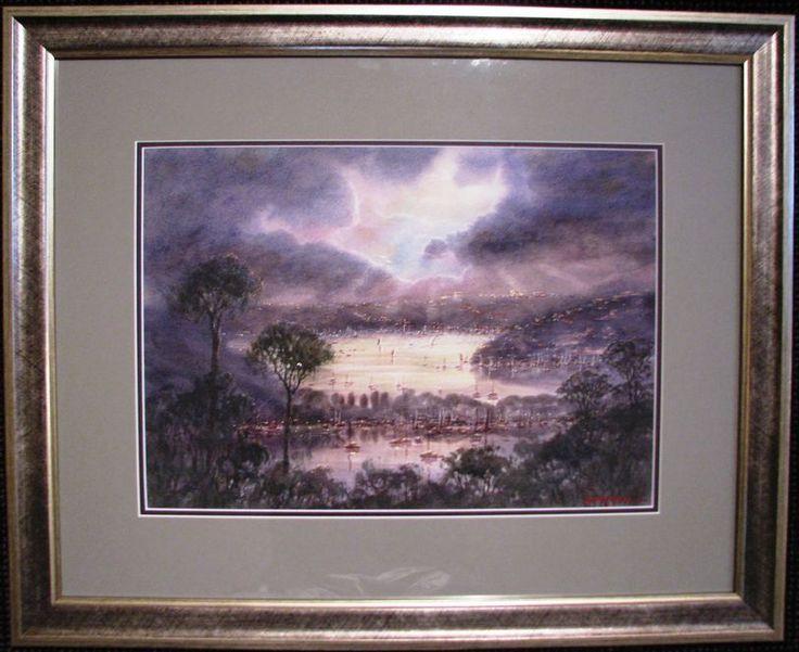 STEPHEN MANN S AUSTRALIAN ORIGINAL WATERCOLOUR  RAINS END OVER SPIT