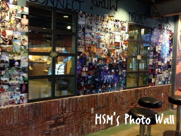 A youth group photo wall...easy to make, cheap, it brightens up your youth room and make students feel at home.