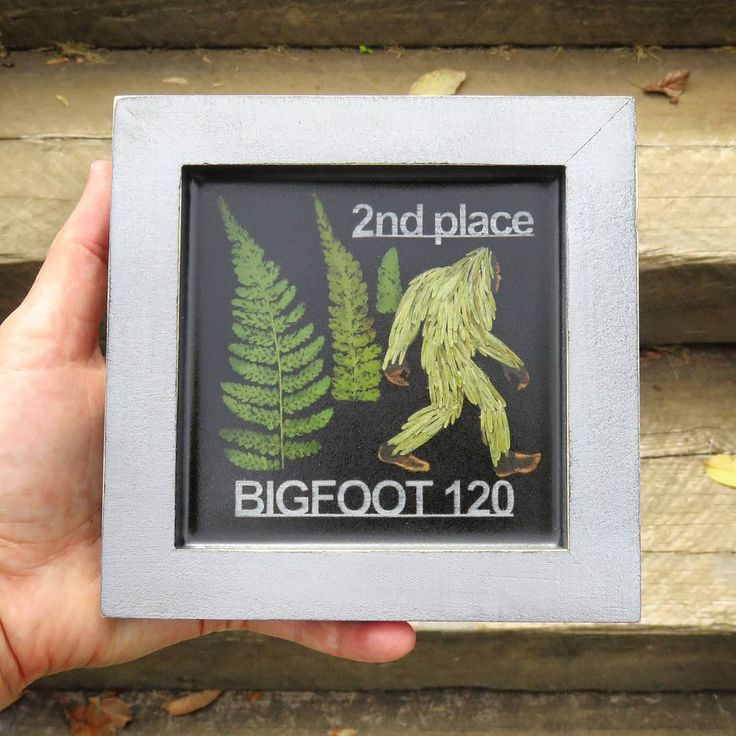 Here's one of the finished award plaques for the #bigfoot120 The runners had to compete in a monsoon like storm and many didn't finish.  But the ones that did are hardcore and should be damn proud of themselves!