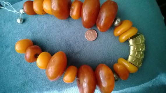 Stunning Tibet amber tree resin authentic huge beads strand
