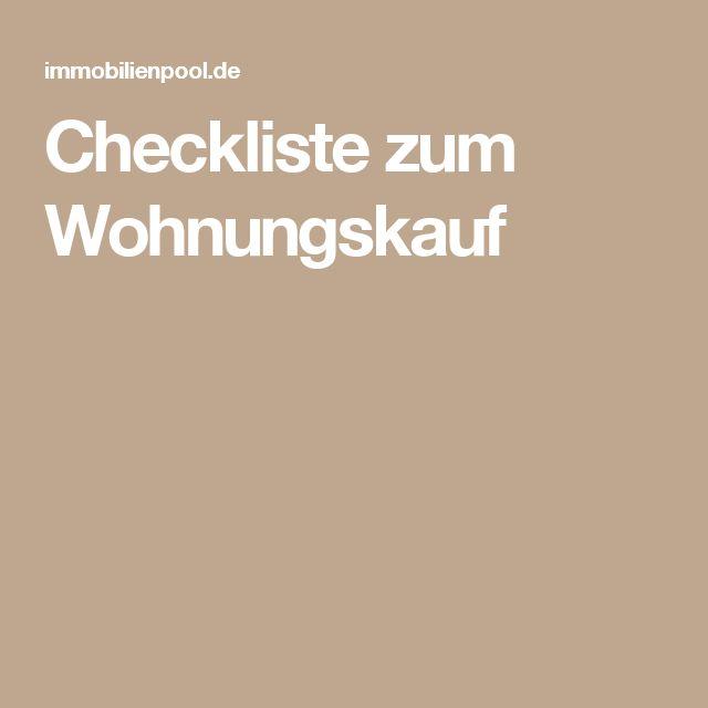 Checkliste Zum Wohnungskauf Wohnen In 2018 Pinterest Coaching