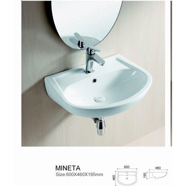 Umývadlo MINETA 600x460x195