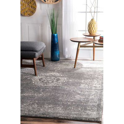 """Bungalow Rose Brodie Gray Area Rug Rug Size: 5' x 7'5"""""""
