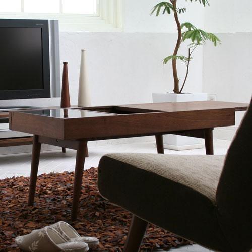 コレクションテーブルとしても使用できる、コンパクトサイズのセンターテーブル。