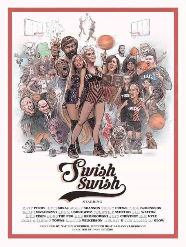 Novo vídeo de Swish Swish traz Katy Perry como capitã de uma equipa de basquetebol
