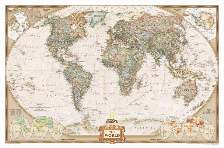 Mapa mural del Mundo (Político) - Estilo Antiguo - 622086E
