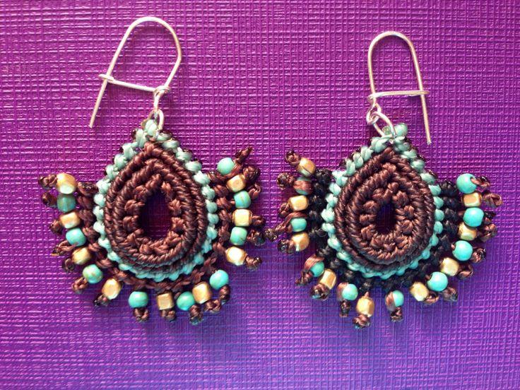 Aros turquesa y bronce