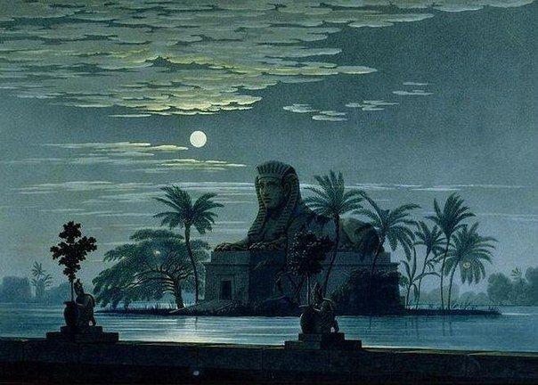 "Karl Friedrich Schinkel ""The Garden Of Sarastro By Moonlight With Sphinx"""