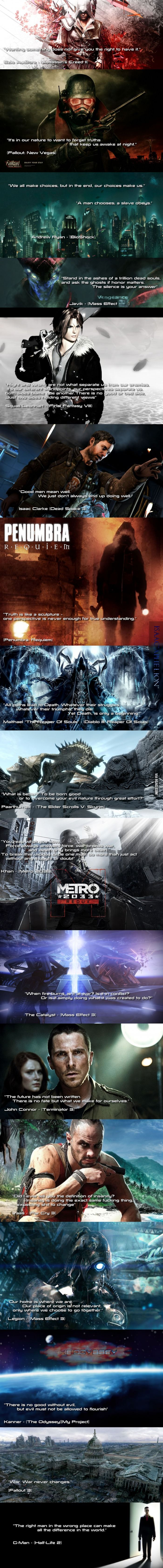 18 Awesome Game & Movie Quotes