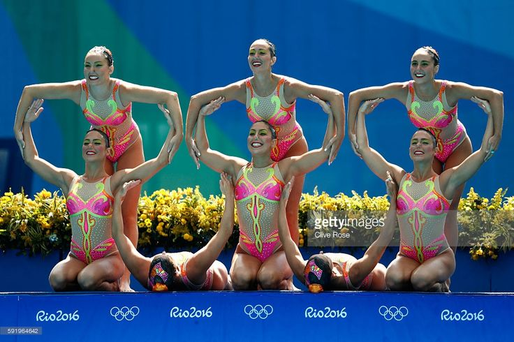 Photo d'actualité : Team Brazil competes in the Synchronised Swimming...