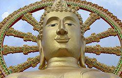 Buddha in Koh Phangan in Thailand.