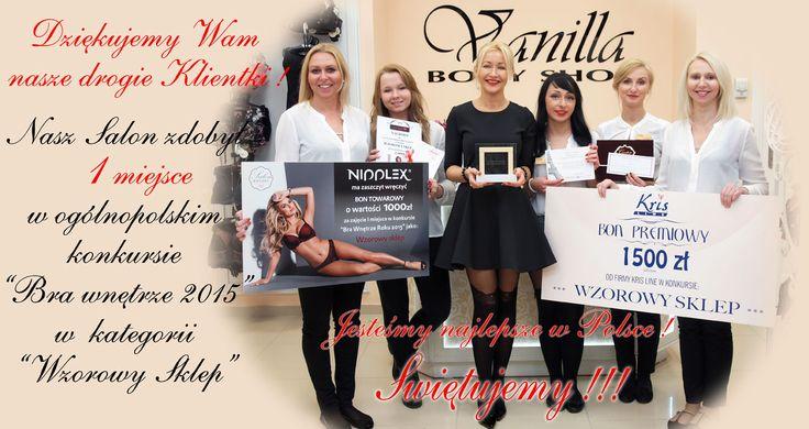 Zdobyliśmy I miejsce w ogólnopolskim konkursie Bra Wnętrze 2015 !!!