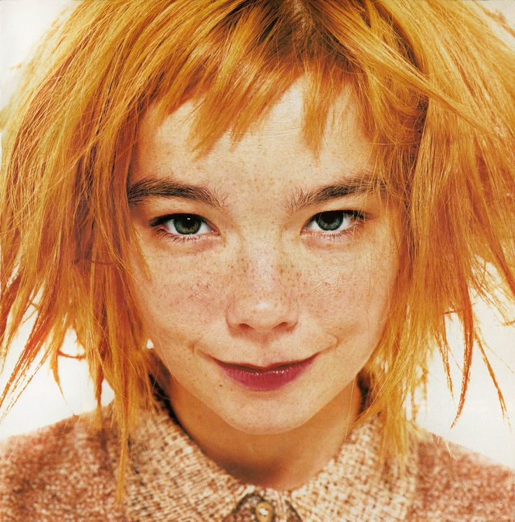 Really cute picture!!! I love red hair and freackles!!!!Björk by Lorenzo Agius - i-D #154 July 1996