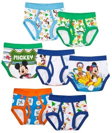 Mickey Mouse 7 Pack Underwear, Toddler Boys' Mickey Mouse by Handcraft
