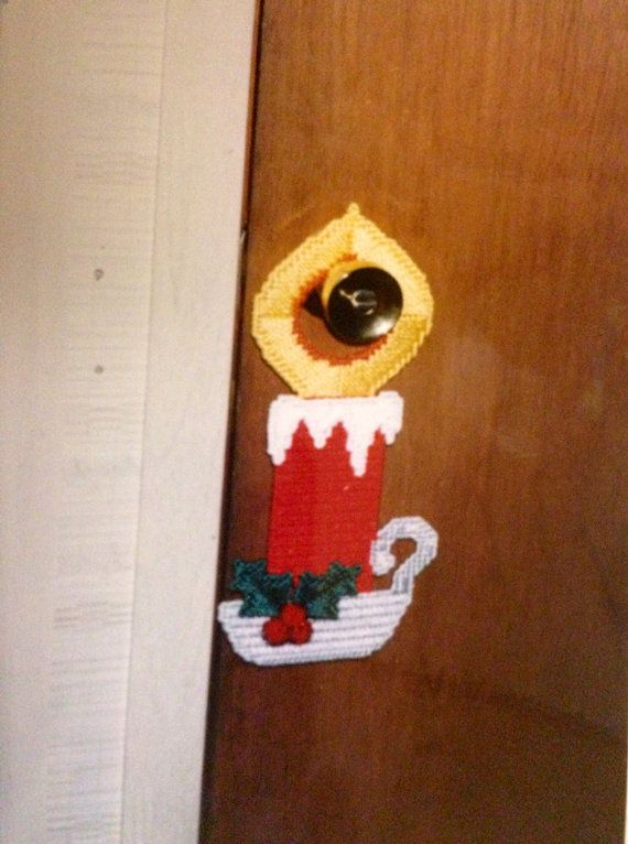Christmas Candle Doorknob Hanger Plastic by Cathygiftsandthings, $7.00