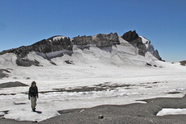 Mount Ruapehu's summit crater