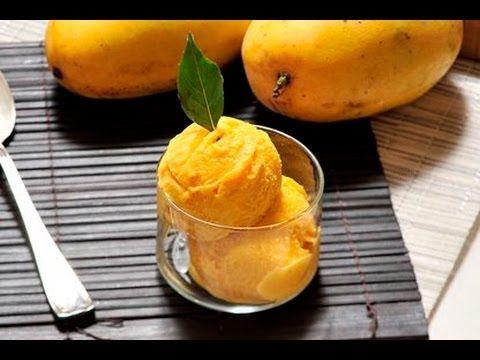 Helado de mango. Este sabroso helado es ideal para la temporada de calor. Se puede preparar con diversas frutas. Es muy práctico hacerlo si nos ha quedado fruta sin consumir y no queremos que se eche a perder.
