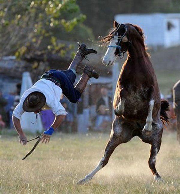 rodeo sucks hope he broke his neck.  RODEOS R GREAT!!